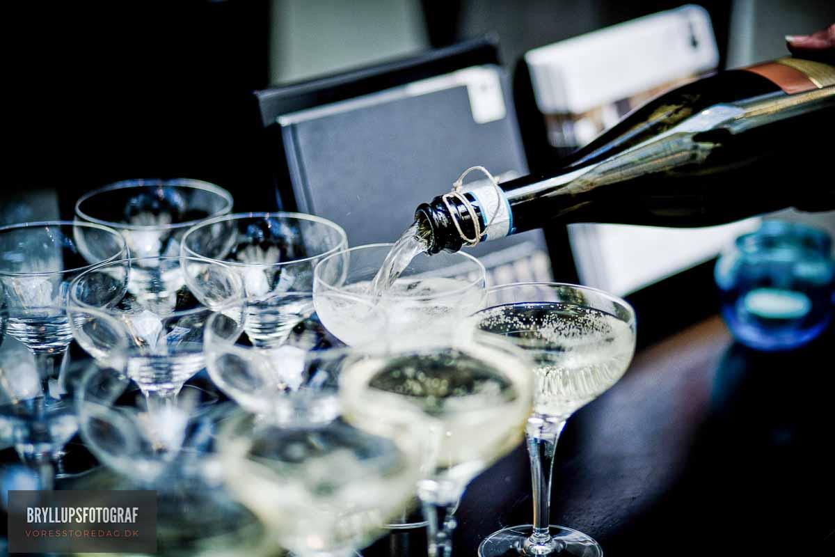 champagne bryllup svendborg