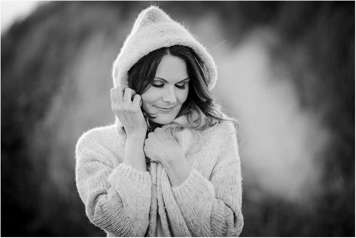 kvinde portræt vinter